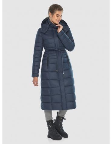 Длинная подростковая куртка Ajento на зиму синяя 21375 фото 1