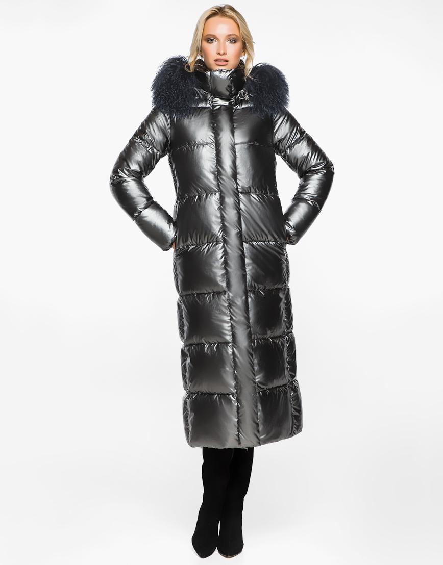 Женский стильный воздуховик Braggart цвет темное серебро модель 31072
