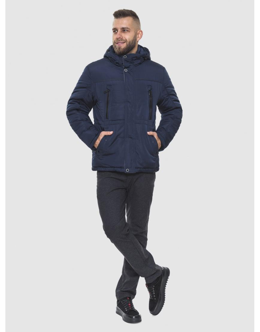 Фирменная куртка большого размера тёмно-синяя мужская 1905-1 фото 1
