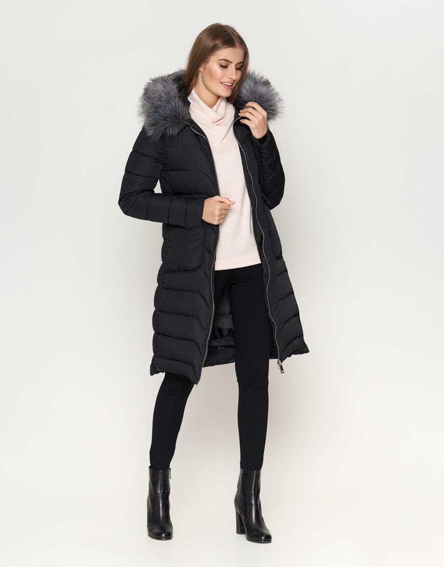 Куртка женская с карманами черная модель 6617 фото 2