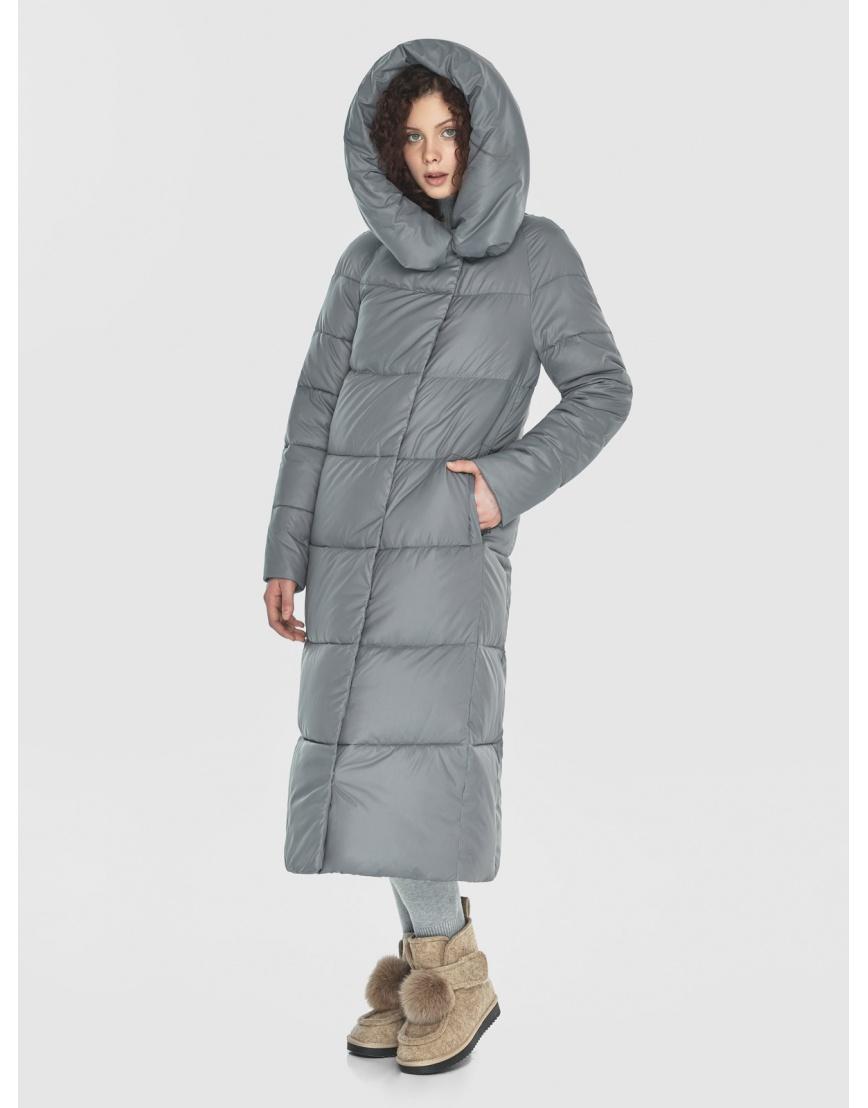 Куртка-пальто Moc серая женская длинная M6530 фото 3