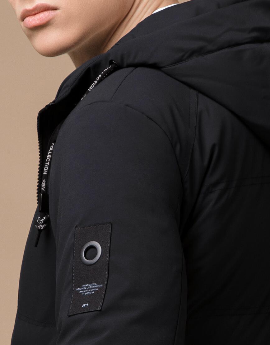 Куртка зимняя черная комфортная модель 25400 фото 7