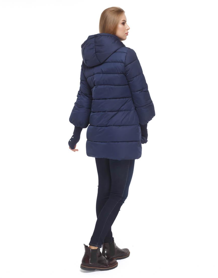Женская куртка с эластичными манжетами синяя модель 5219 фото 4