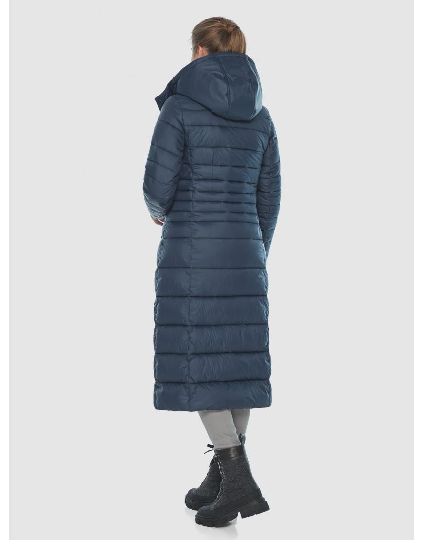 Тёплая длинная женская куртка Ajento синяя 21375 фото 4