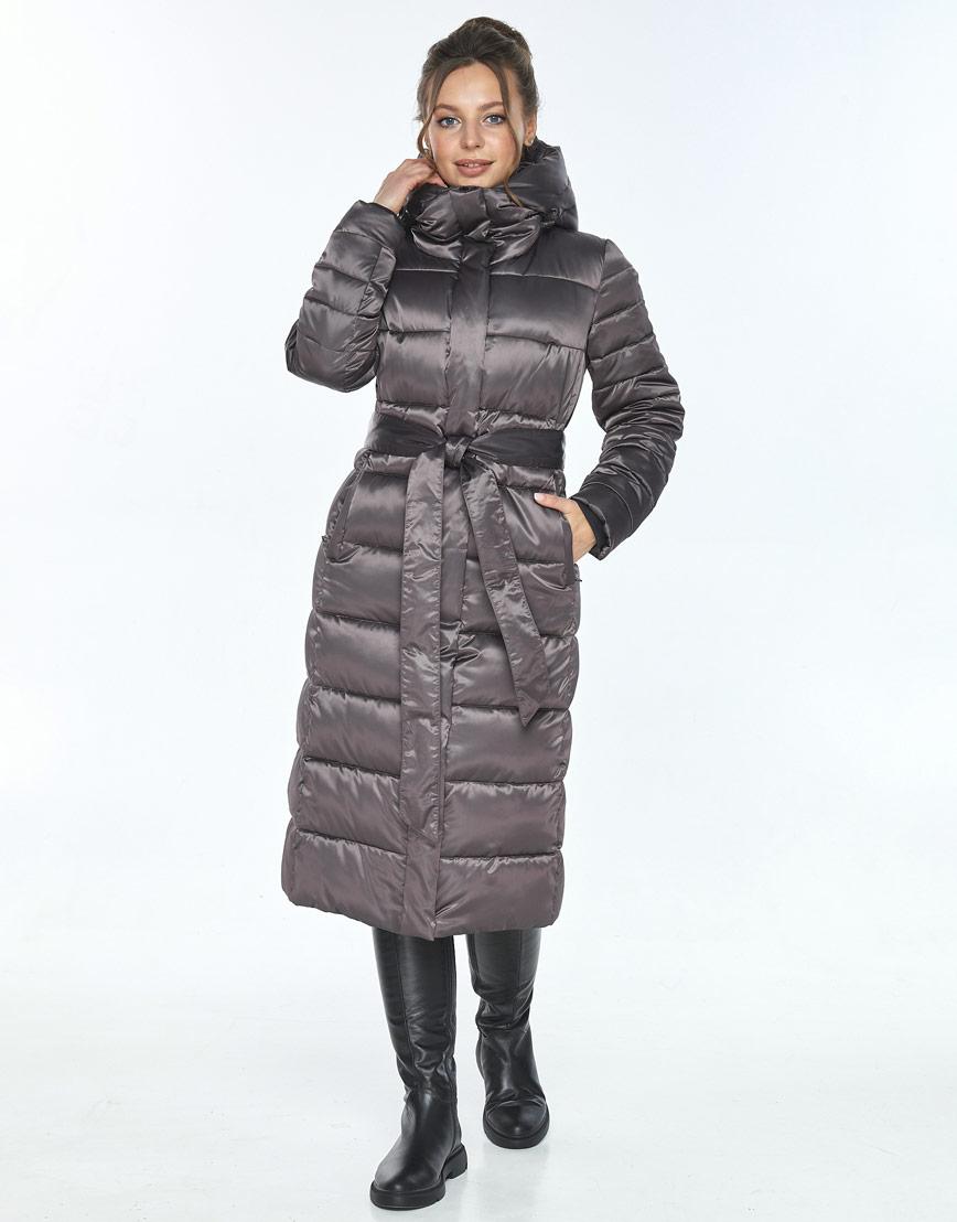 Фирменная капучиновая куртка Ajento женская на зиму 21152 фото 1