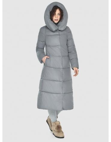 Куртка-пальто Moc серая женская длинная M6530 фото 1