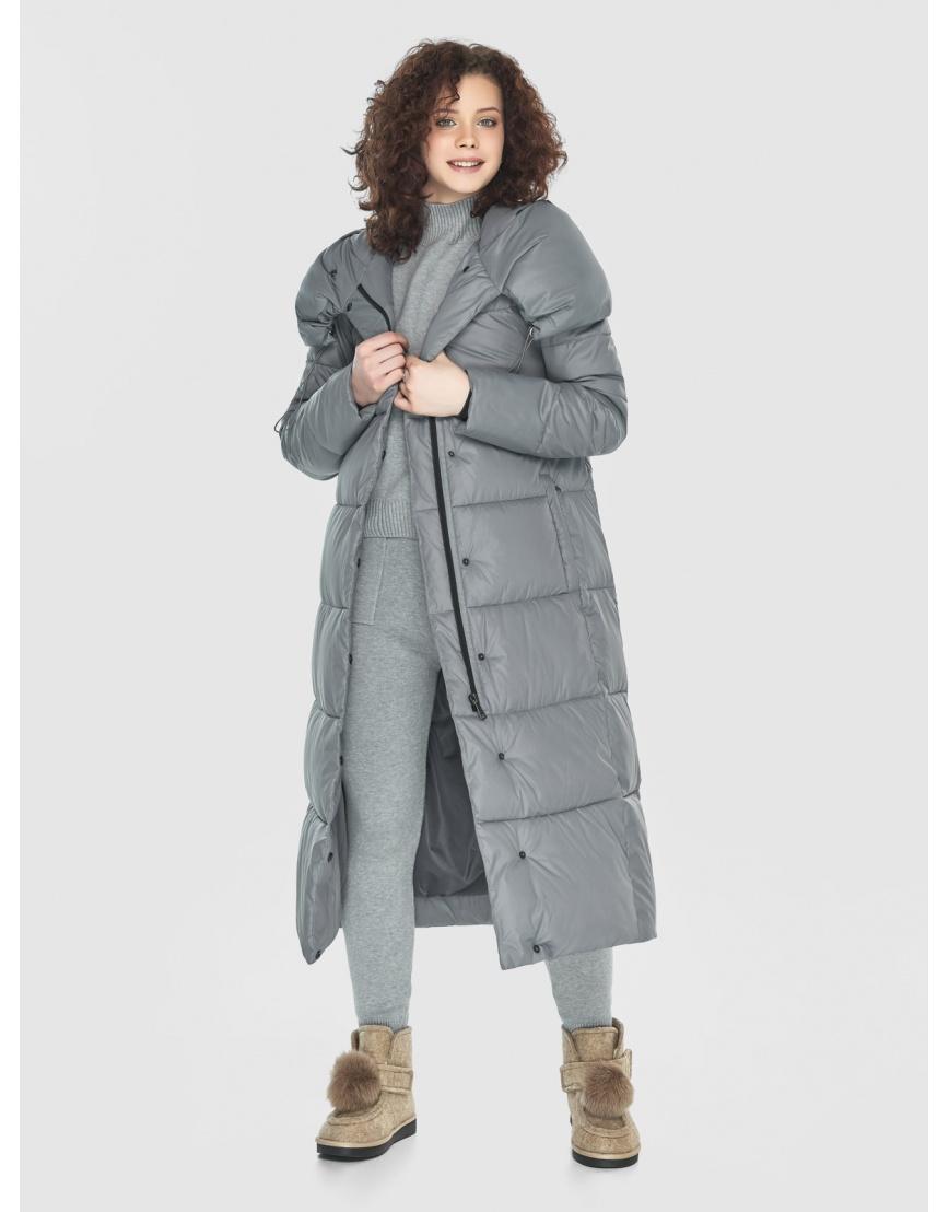 Куртка-пальто Moc серая женская длинная M6530 фото 6
