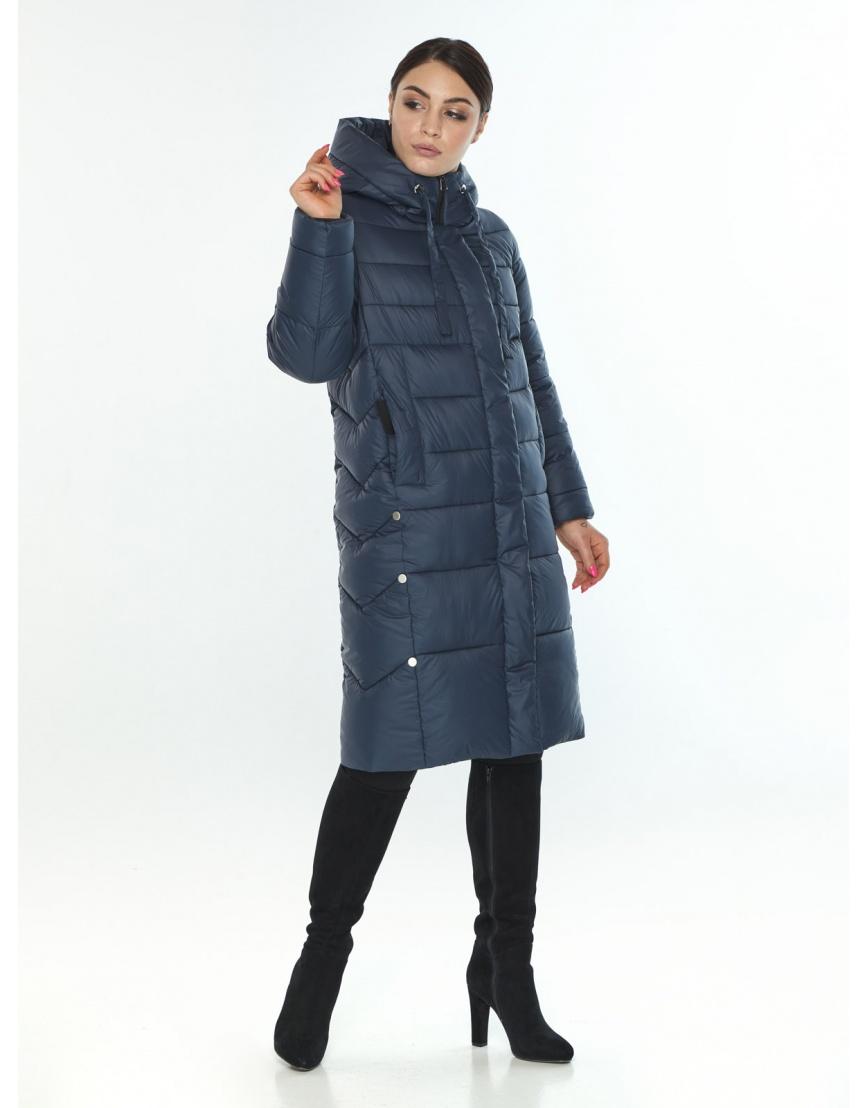 Подростковая оригинальная зимняя куртка Wild Club цвет синий 541-94 фото 3