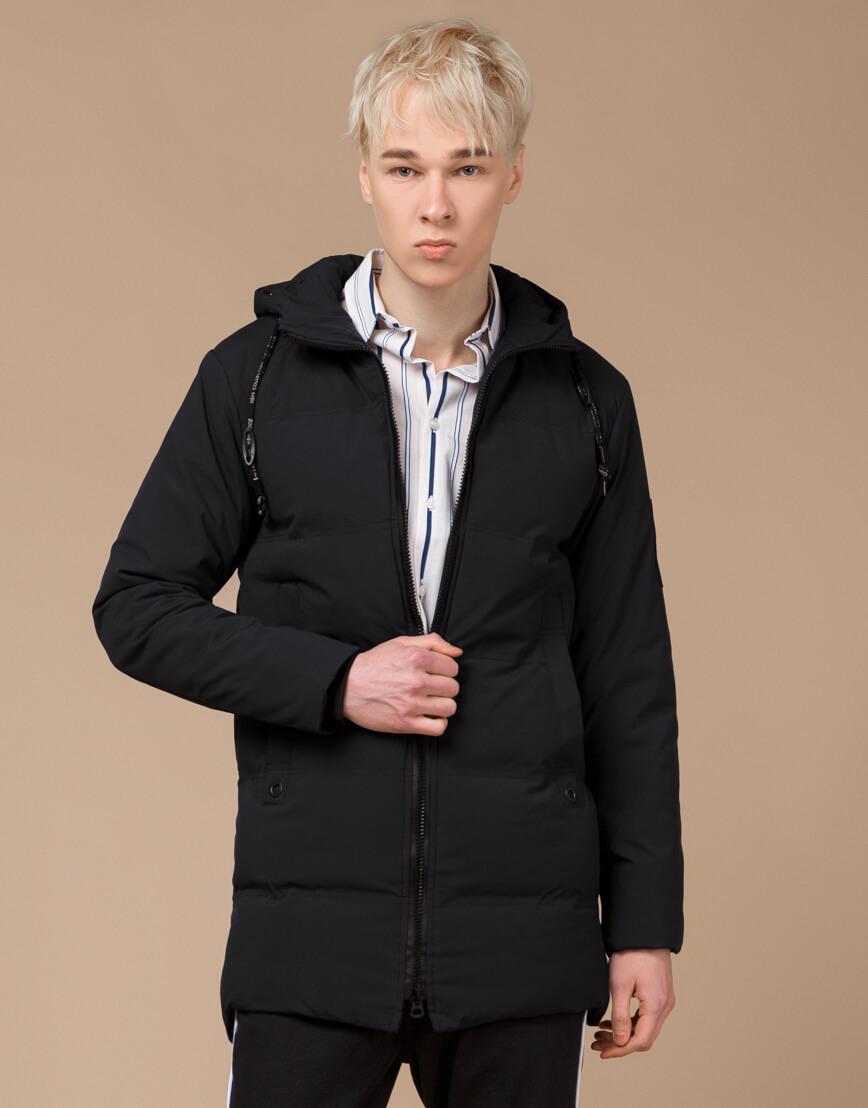 Куртка зимняя черная комфортная модель 25400 фото 3