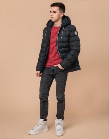 Модная куртка подростковая графитового цвета модель 76025 оптом фото 1