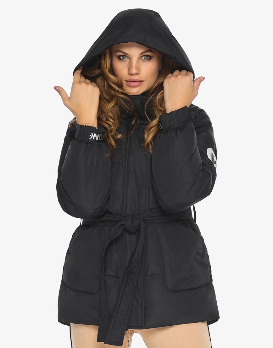 Пуховик куртка Youth женская удобная черная модель 21045 фото 1