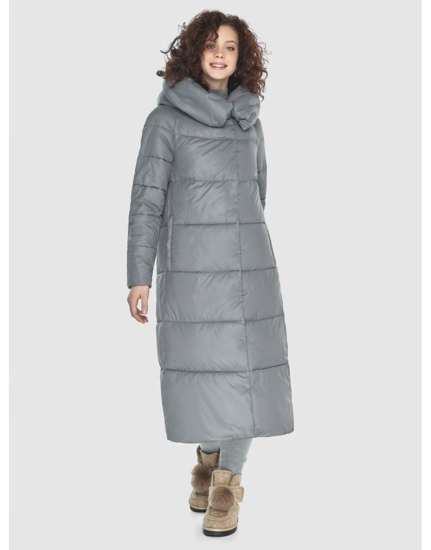 Куртка-пальто Moc серая женская длинная M6530 фото 2