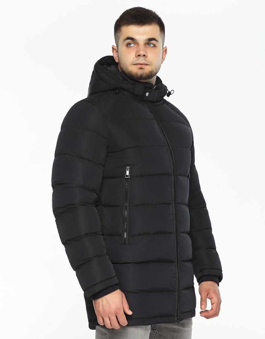Черная куртка мужская на зиму модель 36470 оптом
