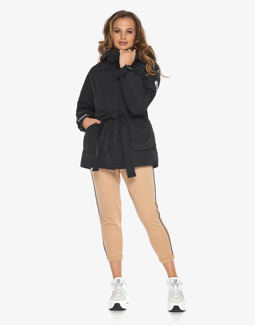 Пуховик куртка Youth женская удобная черная модель 21045 фото 5