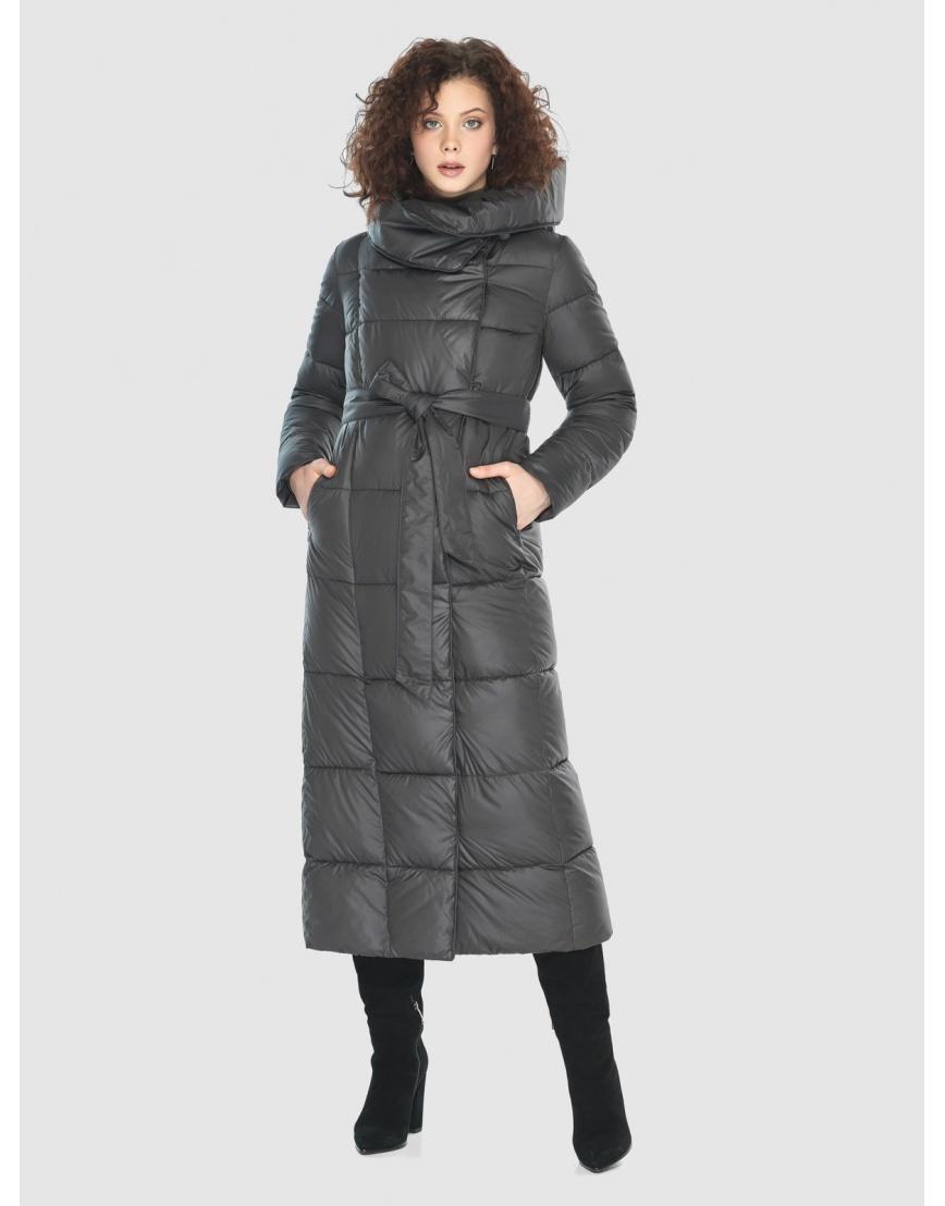 Стильная куртка Moc женская зимняя для девушек серая M6321 фото 1
