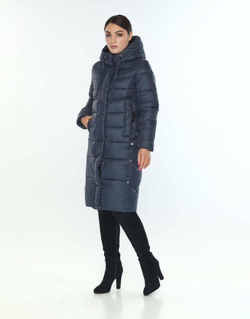 Куртка удобная на зиму женская Wild Club цвет синий 541-94 фото 2