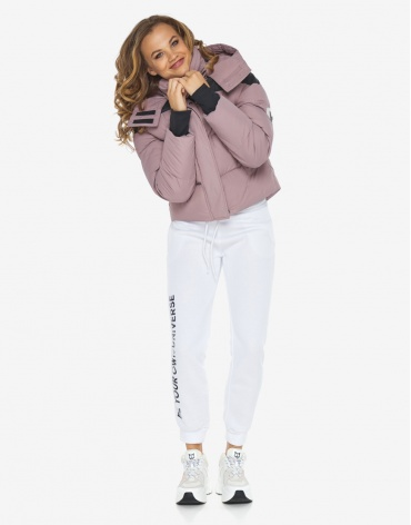 Куртка пуховик Youth женский пудровый зимний модель 24180 оптом фото 1