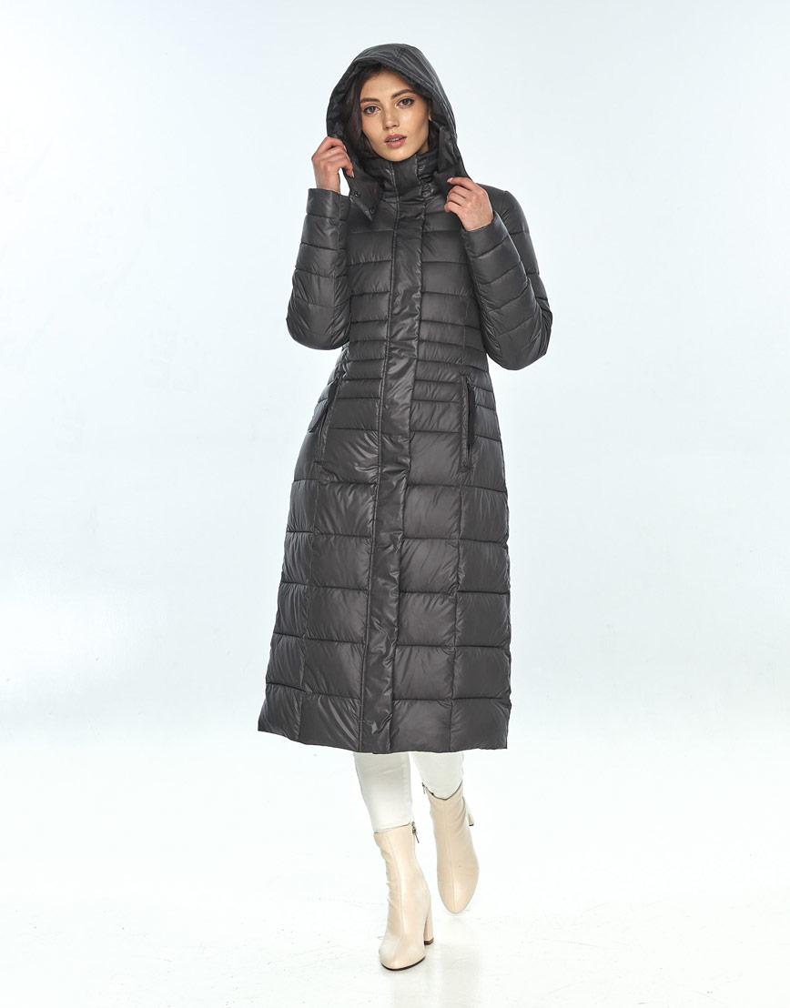 Длинная куртка женская Vivacana серая 8140/21 фото 2