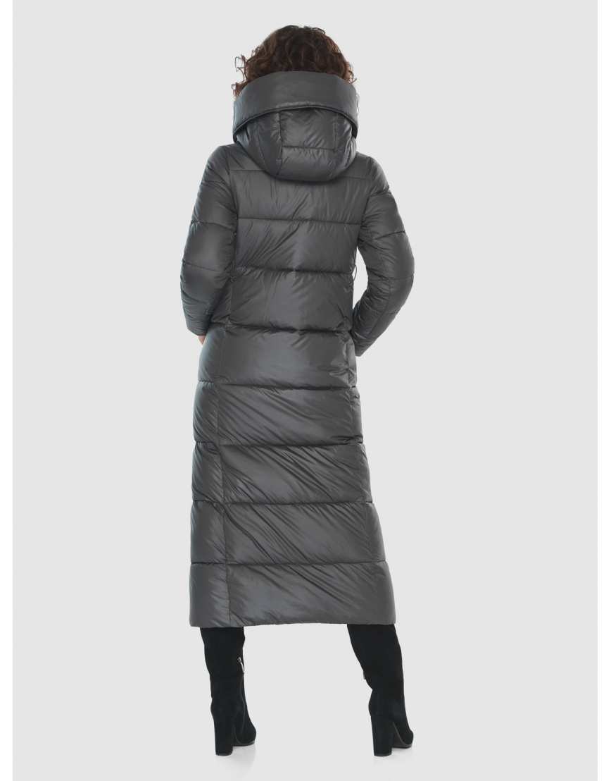 Стильная куртка Moc женская зимняя для девушек серая M6321 фото 4