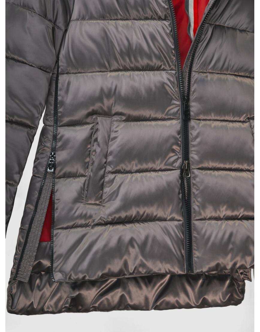 38 (4XS) – последний размер – зимняя коричневая куртка на змейке женская Youth 200050 фото 4