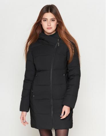 Молодежная женская стильная куртка черного цвета модель 25395