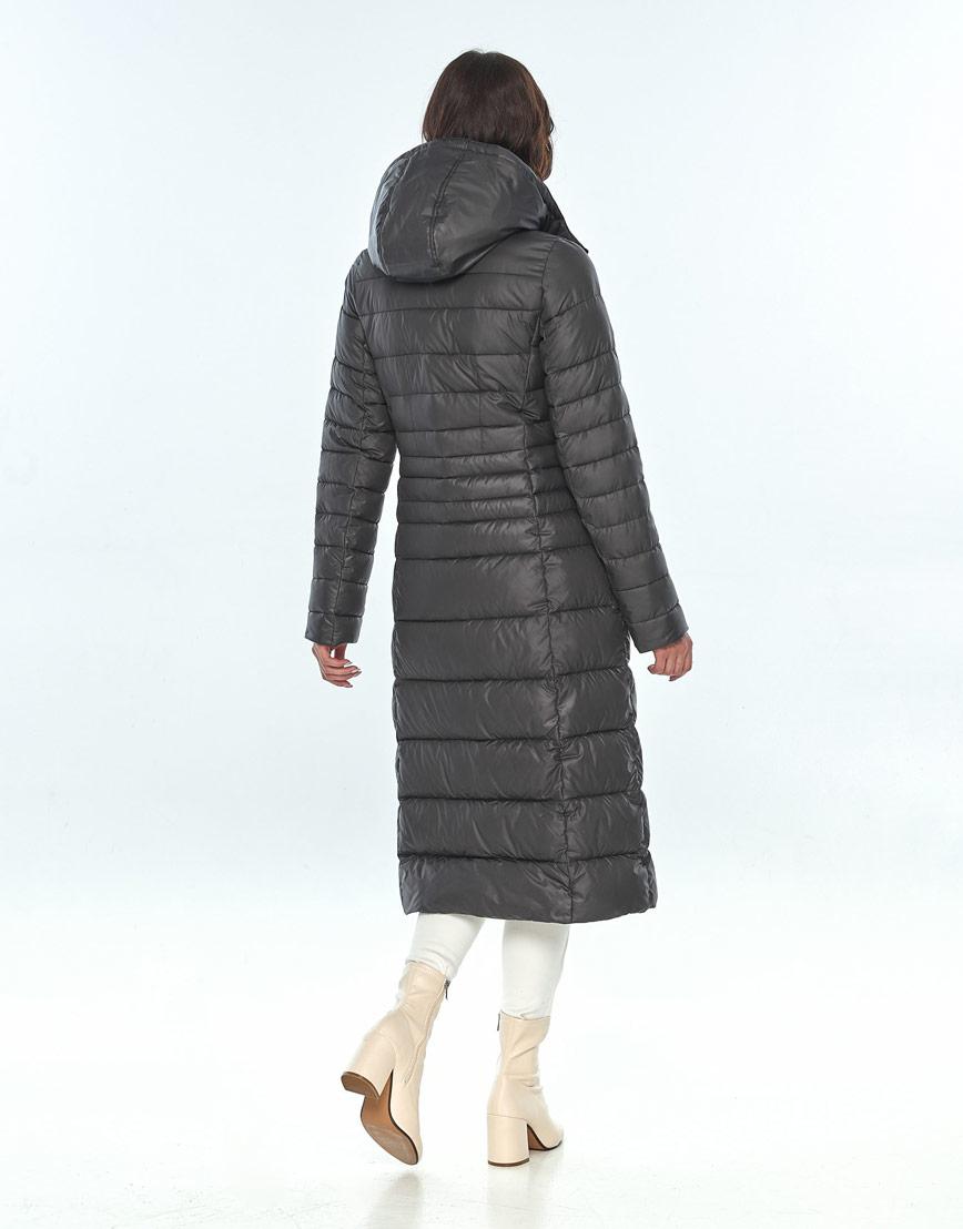 Длинная куртка женская Vivacana серая 8140/21 фото 3