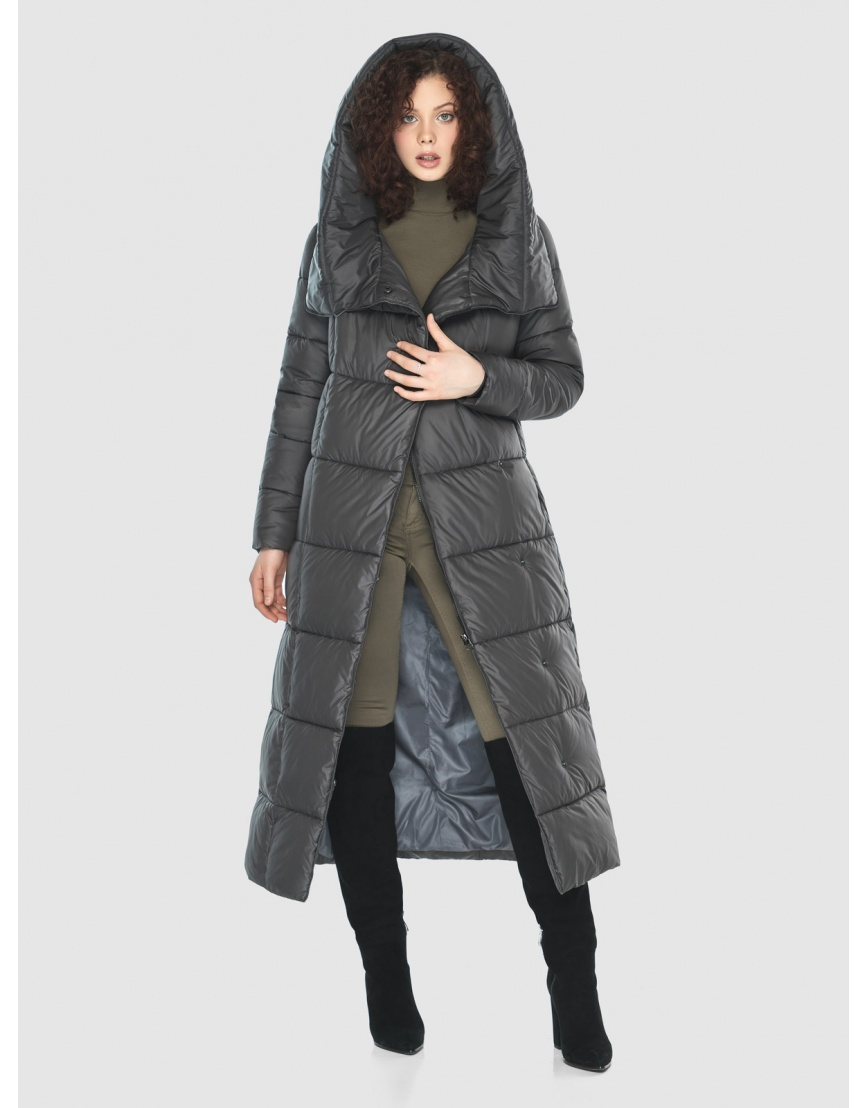 Стильная куртка Moc женская зимняя для девушек серая M6321 фото 6