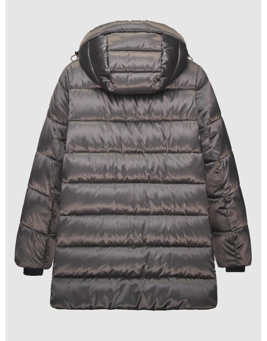 38 (4XS) – последний размер – зимняя коричневая куртка на змейке женская Youth 200050 фото 2