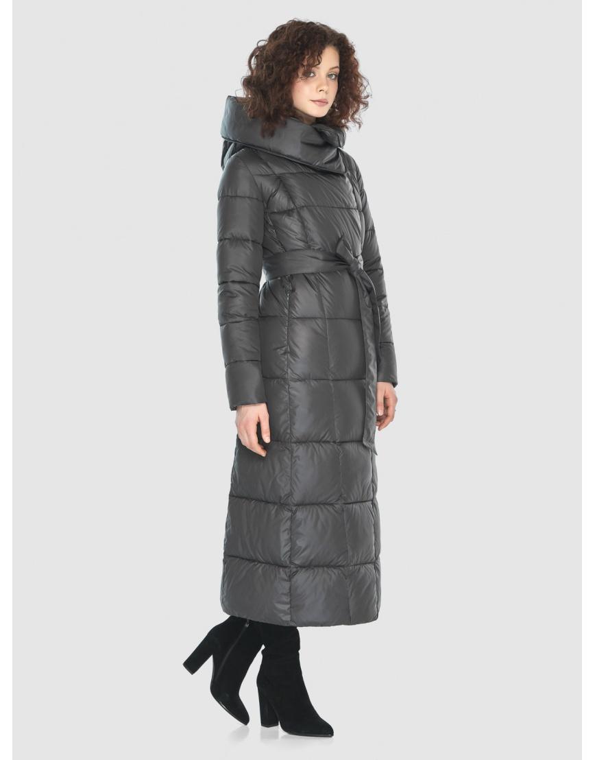 Стильная куртка Moc женская зимняя для девушек серая M6321 фото 3