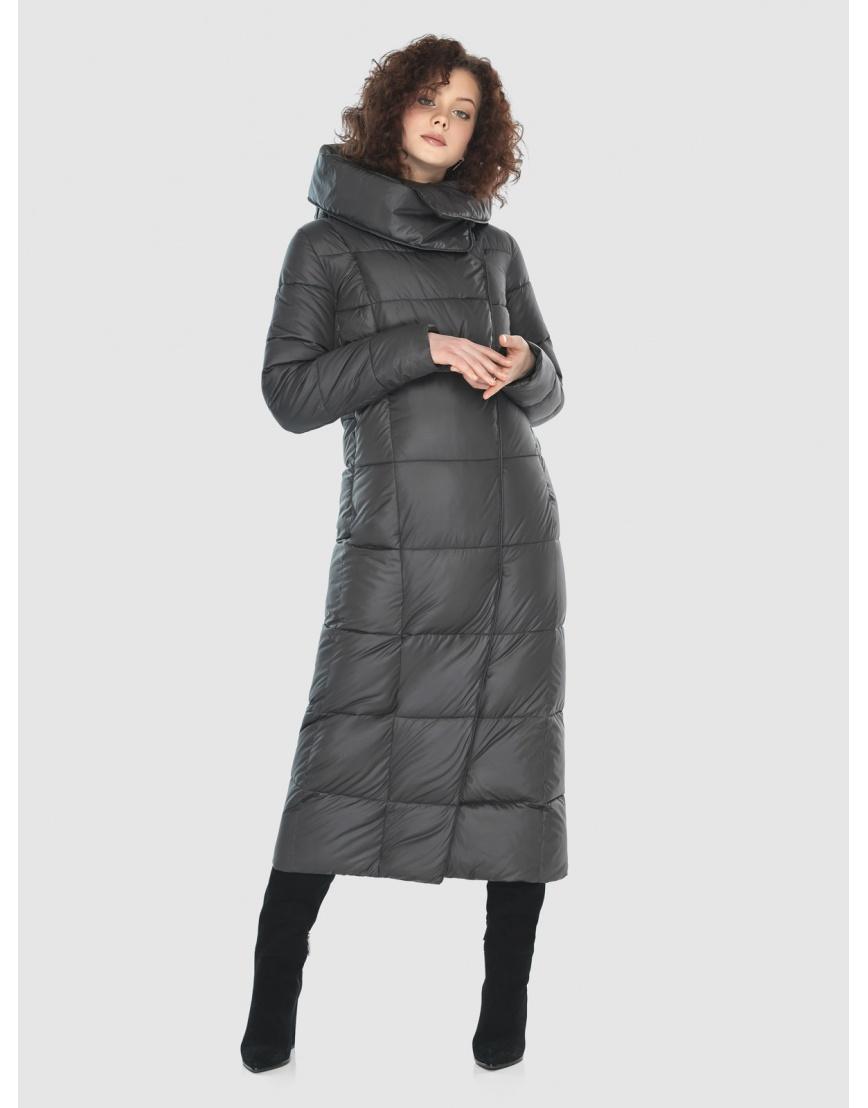 Стильная куртка Moc женская зимняя для девушек серая M6321 фото 2