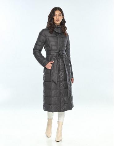Длинная куртка женская Vivacana серая 8140/21 фото 1