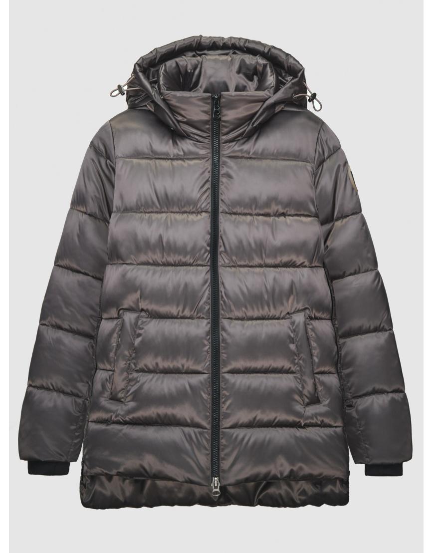 38 (4XS) – последний размер – зимняя коричневая куртка на змейке женская Youth 200050 фото 1