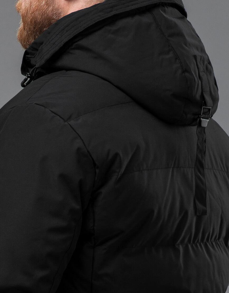 Куртка черная высокого качества зимняя модель 70292 оптом