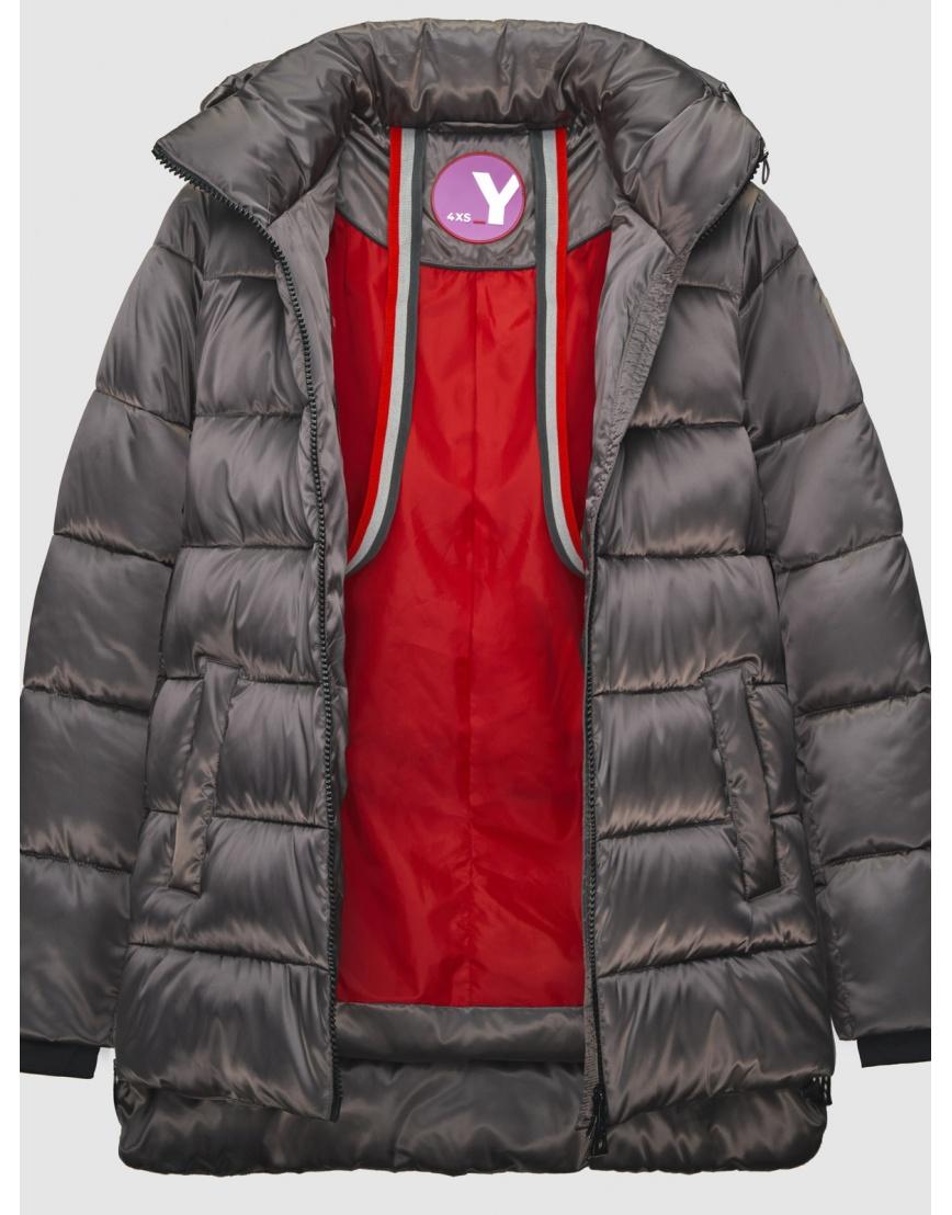 38 (4XS) – последний размер – зимняя коричневая куртка на змейке женская Youth 200050 фото 3