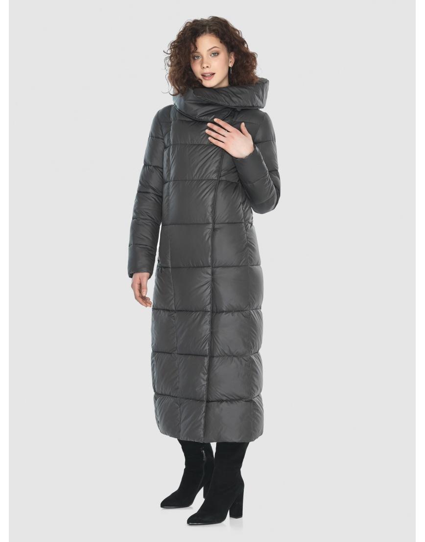Стильная куртка Moc женская зимняя для девушек серая M6321 фото 5