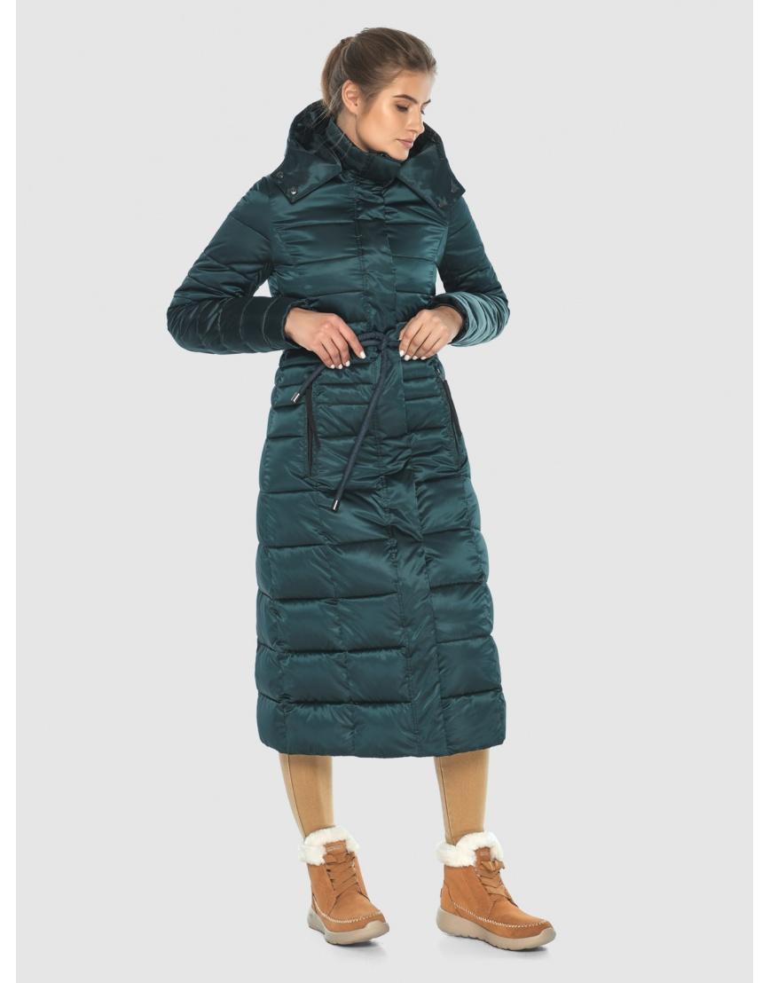 Зелёная элегантная куртка подростковая Ajento для зимы 21375 фото 2