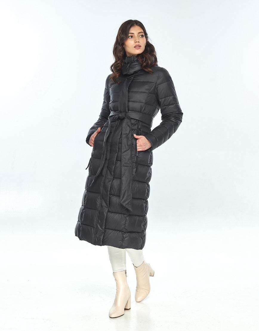 Куртка с поясом женская Vivacana чёрная 8140/21 фото 2