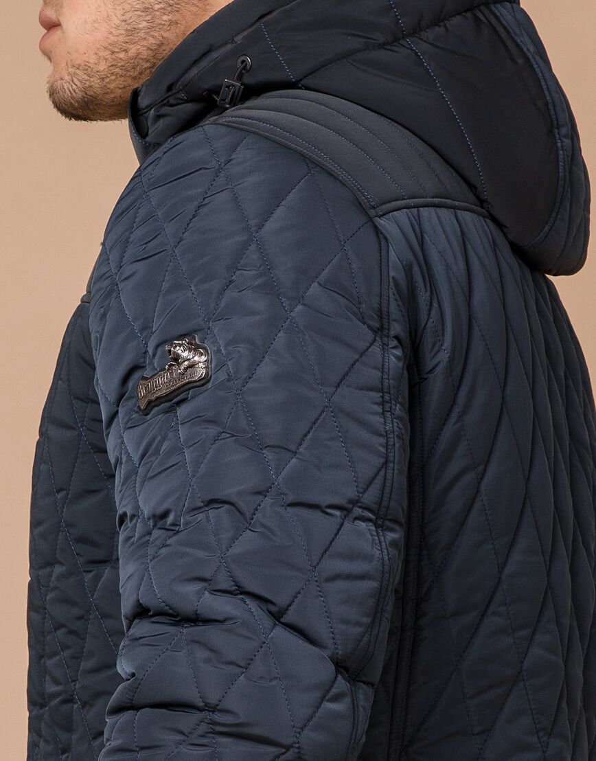 Теплая светло-синяя куртка на зиму модель 30538 фото 6