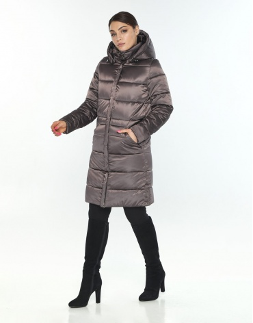 Женская стильная зимняя куртка Wild Club капучиновая 584-52 фото 1