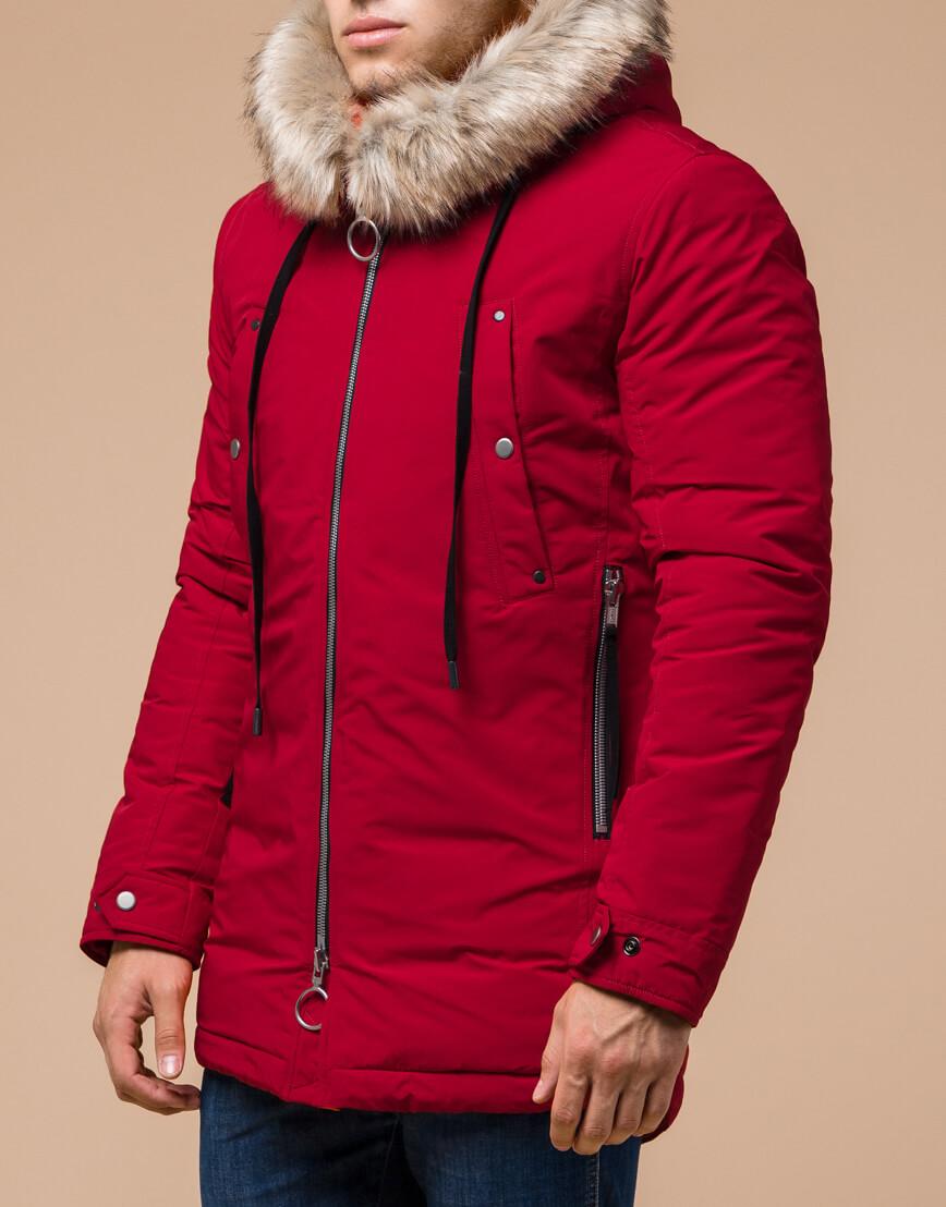 Зимняя красная мужская парка модель 15231 оптом