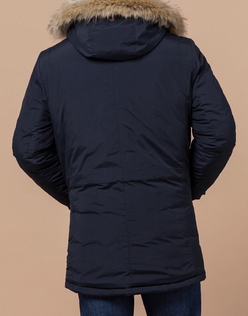 Парка синяя зимняя качественного пошива модель 32450 фото 3