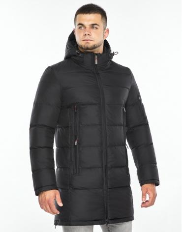 Черная куртка мужская комфортная модель 35170