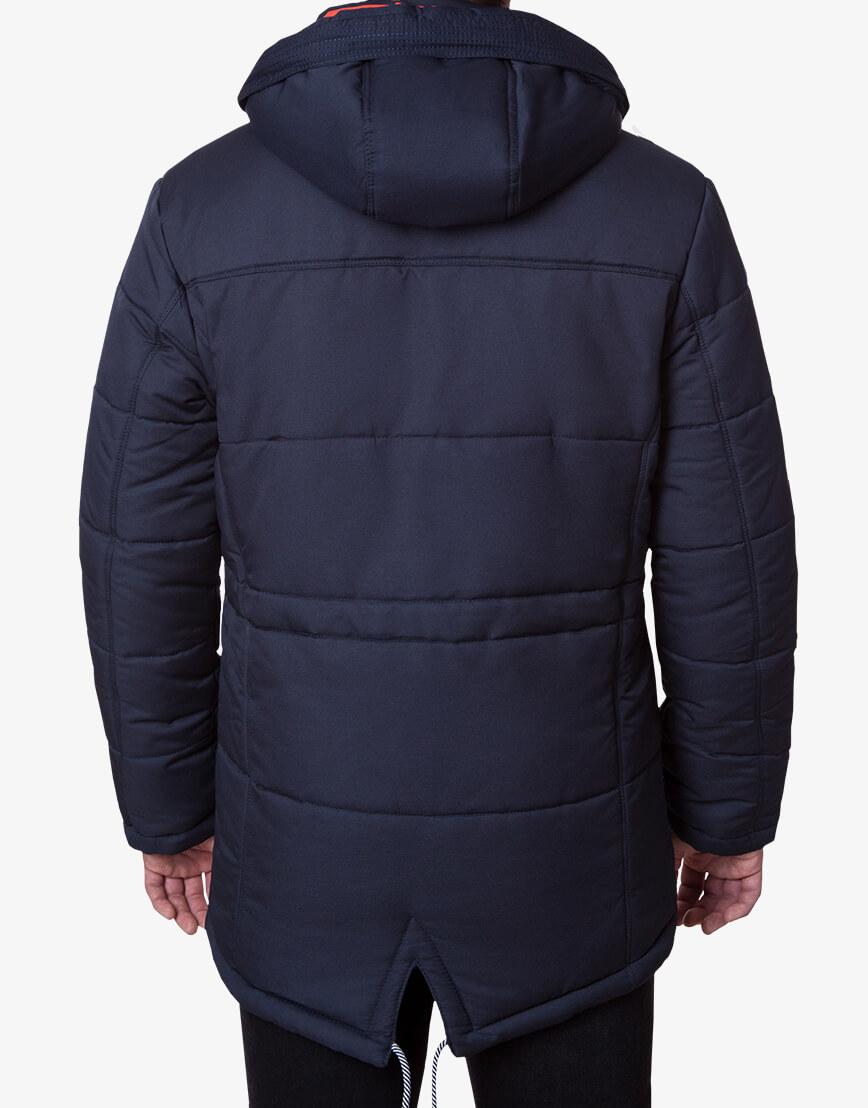 Трендовая куртка темно-синяя модель 1601 фото 3