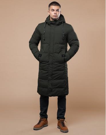 Куртка стильная темно-зеленая молодежная модель 25360 фото 1