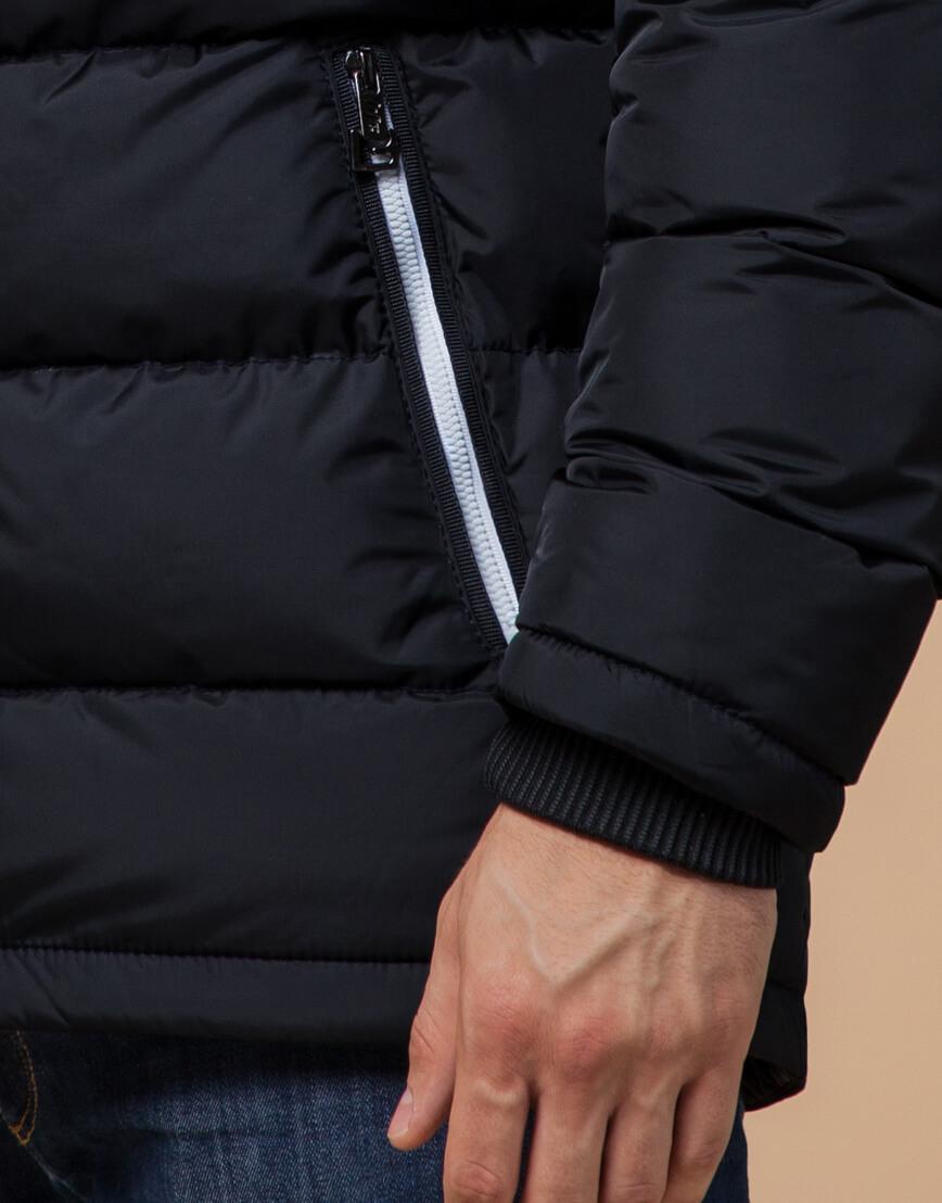 Мужская зимняя куртка цвет темно-синий-белый модель 10168 оптом