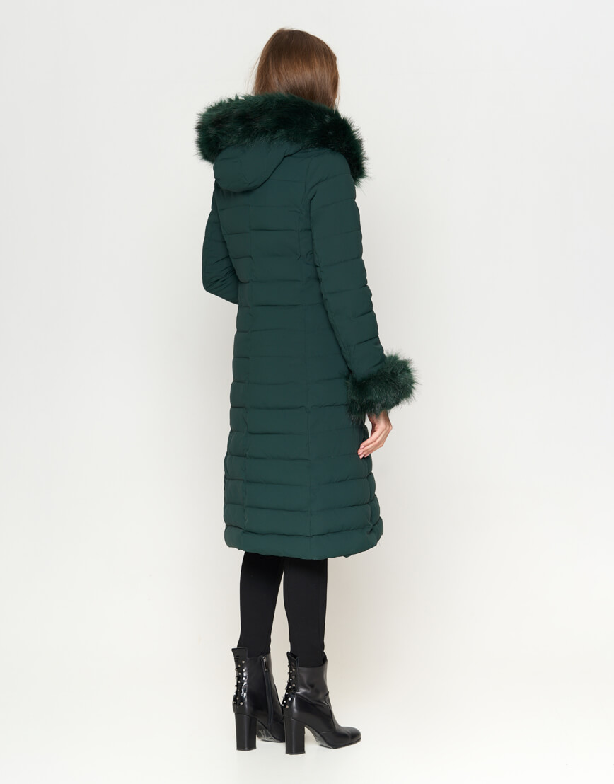 Зеленая женская куртка качественная модель 6612