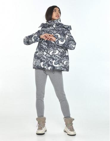 Практичная зимняя куртка подростковая с рисунком Moc M6981 фото 1