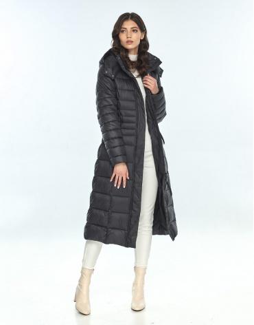 Куртка с поясом женская Vivacana чёрная 8140/21 фото 1
