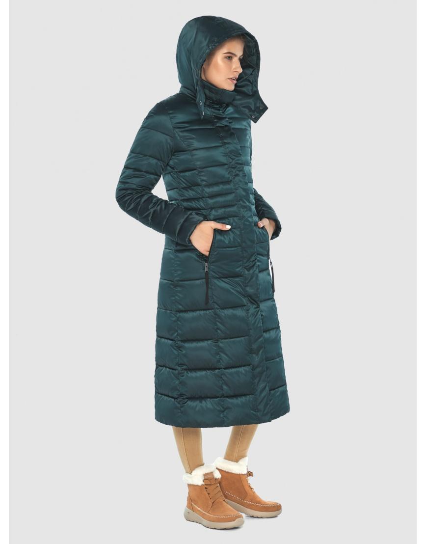 Зелёная элегантная куртка подростковая Ajento для зимы 21375 фото 5