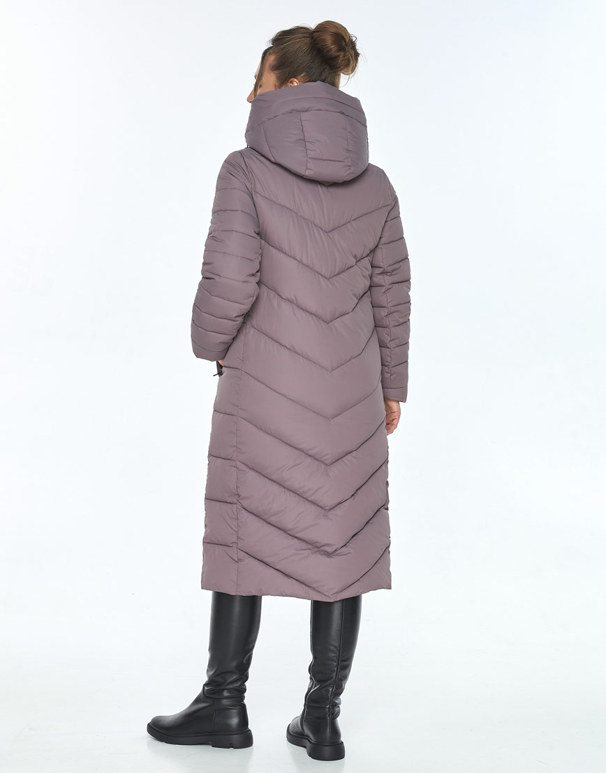 Куртка комфортная женская Ajento зимняя цвет пудра 21152 фото 3